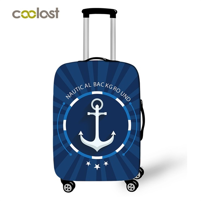 Fashion Boat Hook Travel Suitcase Protective Covers Luggage Protector For Man Woman Suitcase Accessories Elastic Bagage Cover
