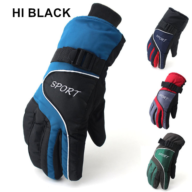 HI BLACK High Quality Winter Warm Ski Gloves Adult Outdoor Snowboarding Sports Waterproof Windproof Snow Wrist Skiing Gloves