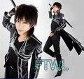 [FTWL] Anime Sword Art Online Kirito Cosplay Costume SAO Men Halloween /Masquerade Costume Full Set
