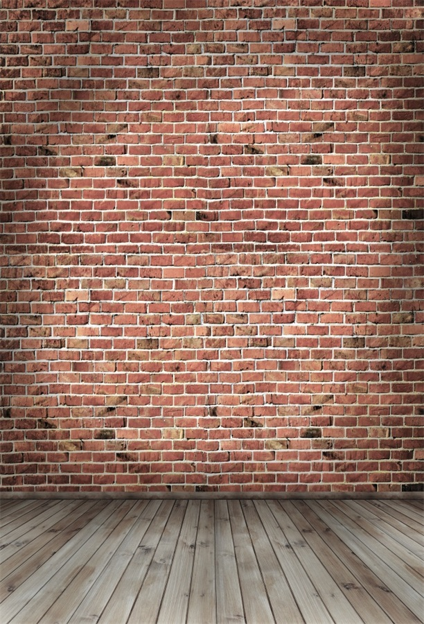 Laeacco Old Brick Wall Wooden Planks Floor Photography Backgrounds Vinyl Custom Camera Photographic Backdrops For Photo Studio