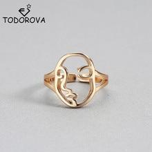 Todorova, anillo Vintage de cara humana para niños, anillo de boda, anillo de compromiso para mujer, joyería Punk Rock para hombres