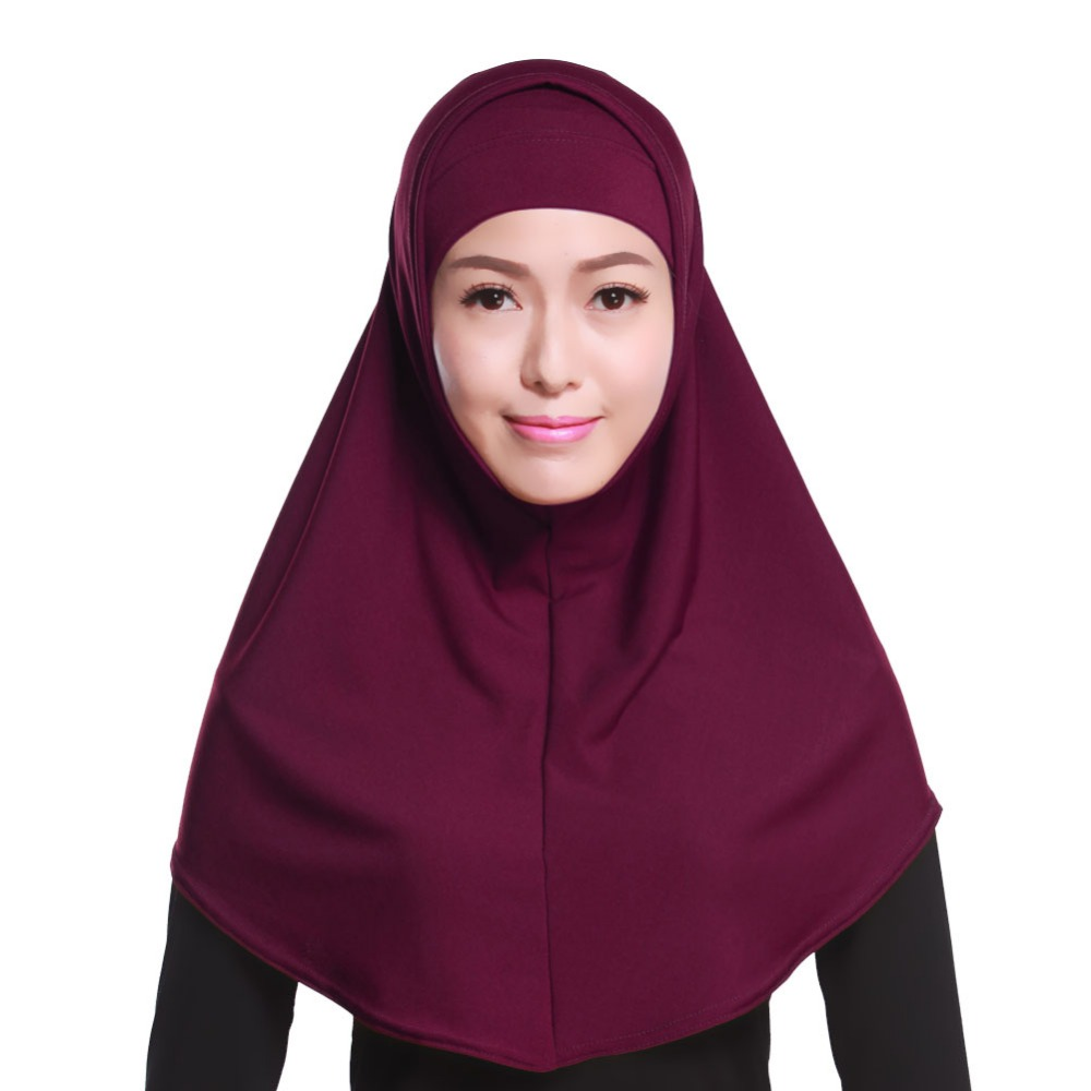 H992 latest plain two pieces muslim hijab muslim scarf fast delivery can choose colors