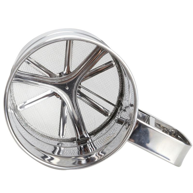 Rostfritt stål Mesh Mjölk Sifter Mekanisk Bakpulver Socker Shaker Sikt Köksartiklar Kopp Form Bakverk Pastry Verktyg