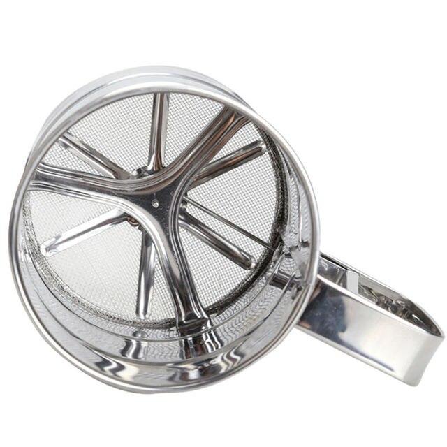 Stainless Steel Mesh Setaccio Farina Setaccio Meccanico Cottura Zucchero a velo
