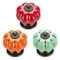 5pcs Pumpkin Cabinet Knobs Pull Handle Door Cabinet Drawer Ceramic Knobs Cupboard Wardrobe Handles Kitchen Wardrobe Hardware