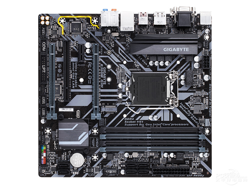 Nouveau Gigabyte B360M D3H carte mère originale LGA 1151 DDR4 B360 bureau e-sports jeu cartes mères d'ordinateur