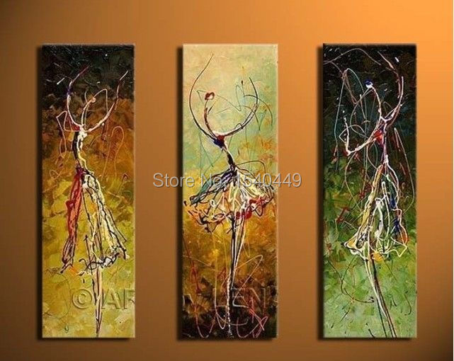 3pieces Modern Abstract Huge Wall Art Oil Painting On: 3 Piece Set Canvas Wall Art Hand Painted Abstract Oil