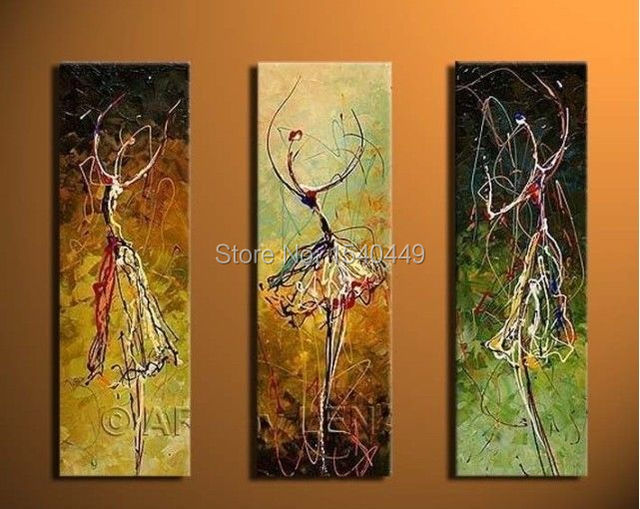 3 piece set canvas wall art hand painted abstract oil for 3 piece painting ideas