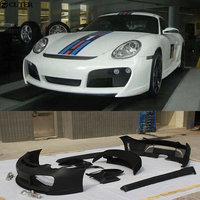 FRP Car body kit front bumper rear bumper side skirts rear spoiler for Porsche Cayman 987 T style 05 12