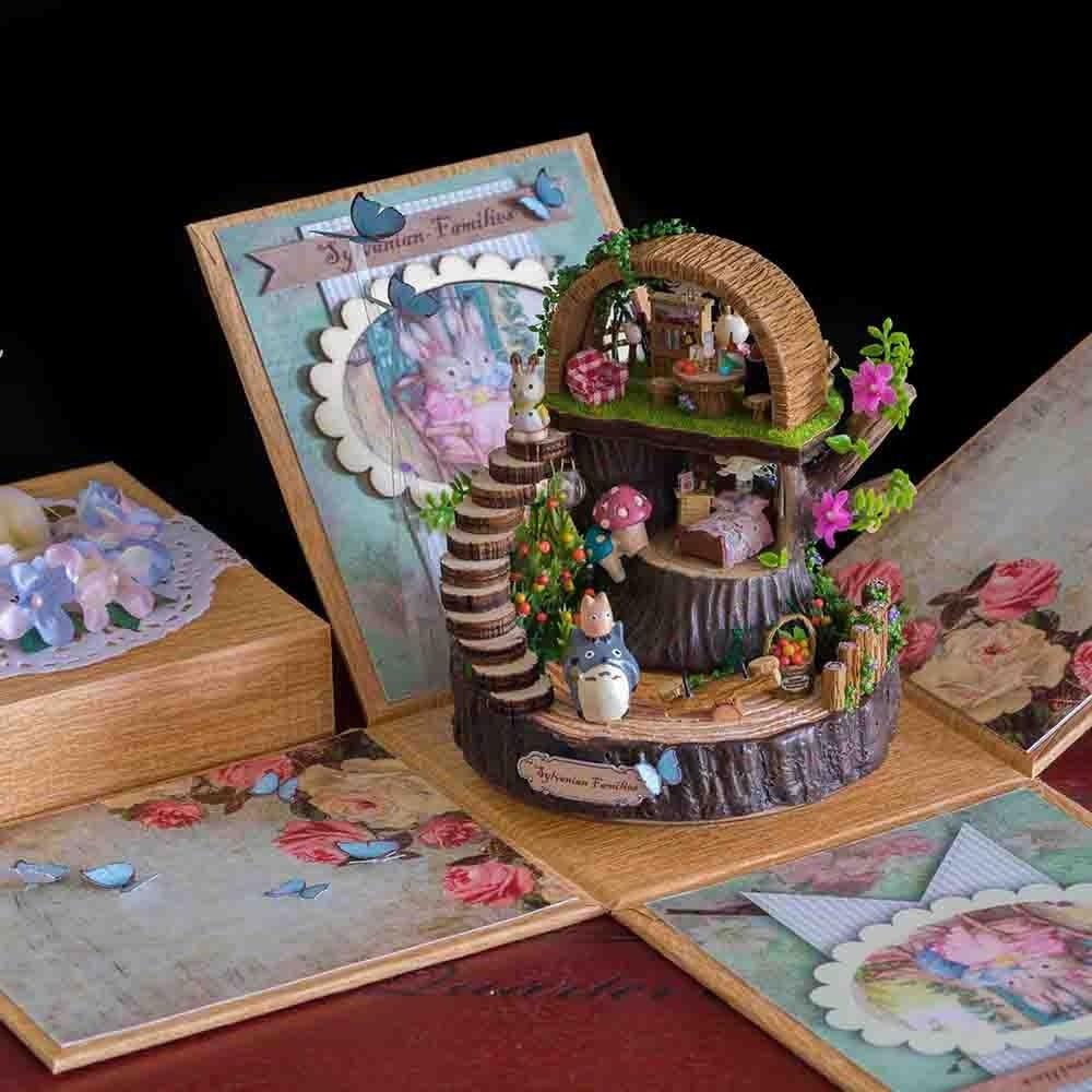 Игрушечный дом модель унисекс Красочные Дети Мини Миниатюрный Кукольный дом свет дом дети подарки на день рождения строительные модели аксессуары