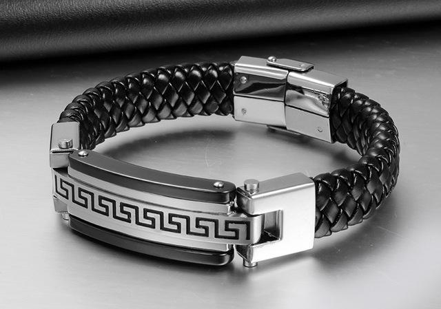 Tarjeta de Gran patrón de la Pared curva de calidad superior Pulseras brazaletes y Pulseras para las mujeres negro y caliente ventas charm bracelet men