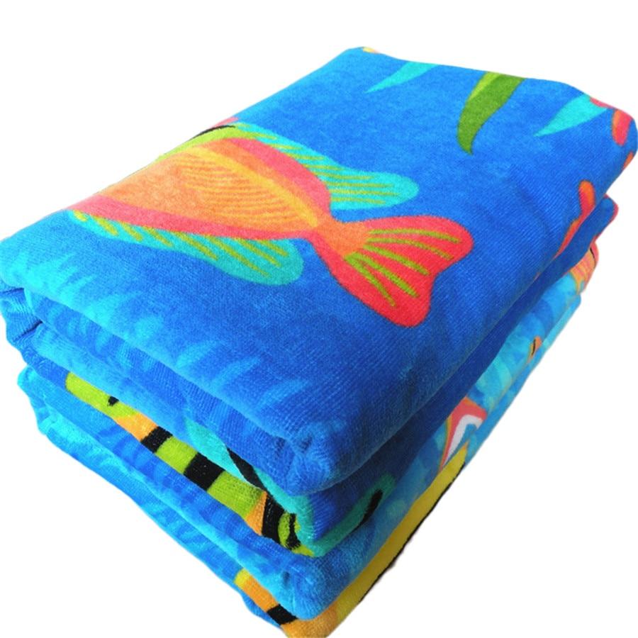 2017 Nouveau 175x90cm Doux 100% Coton Serviettes De Plage Serviette - Textiles de maison - Photo 3
