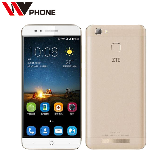Original ZTE Voyage 4s 4G Mobile Phone MT6735P Quad Core 5.0 inch 1280*720P 2G Ram 16G Rom Big Battery 4000mAh Fingerprint ID