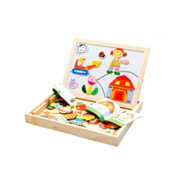 Baby Learning Educational Wooden Toys Puzzle Jigsaw Board Cartoon Characters Whiteboard Matching Enlightenment Kids Gifts 4048