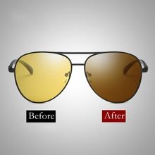 2018 Polarized Photochromic Sunglasses Pilot Style Night Vision Driving Sunglasses with Change Color  Computer Glasses Anti Blue цена