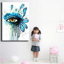 oil painting hand-painted canvas Eyes close-up picture high quality Household adornment art Eyes abstract painting 168018(China)