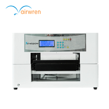 digital A3 size solvent printer pu leather inkjet flatbed printing machine with white ink