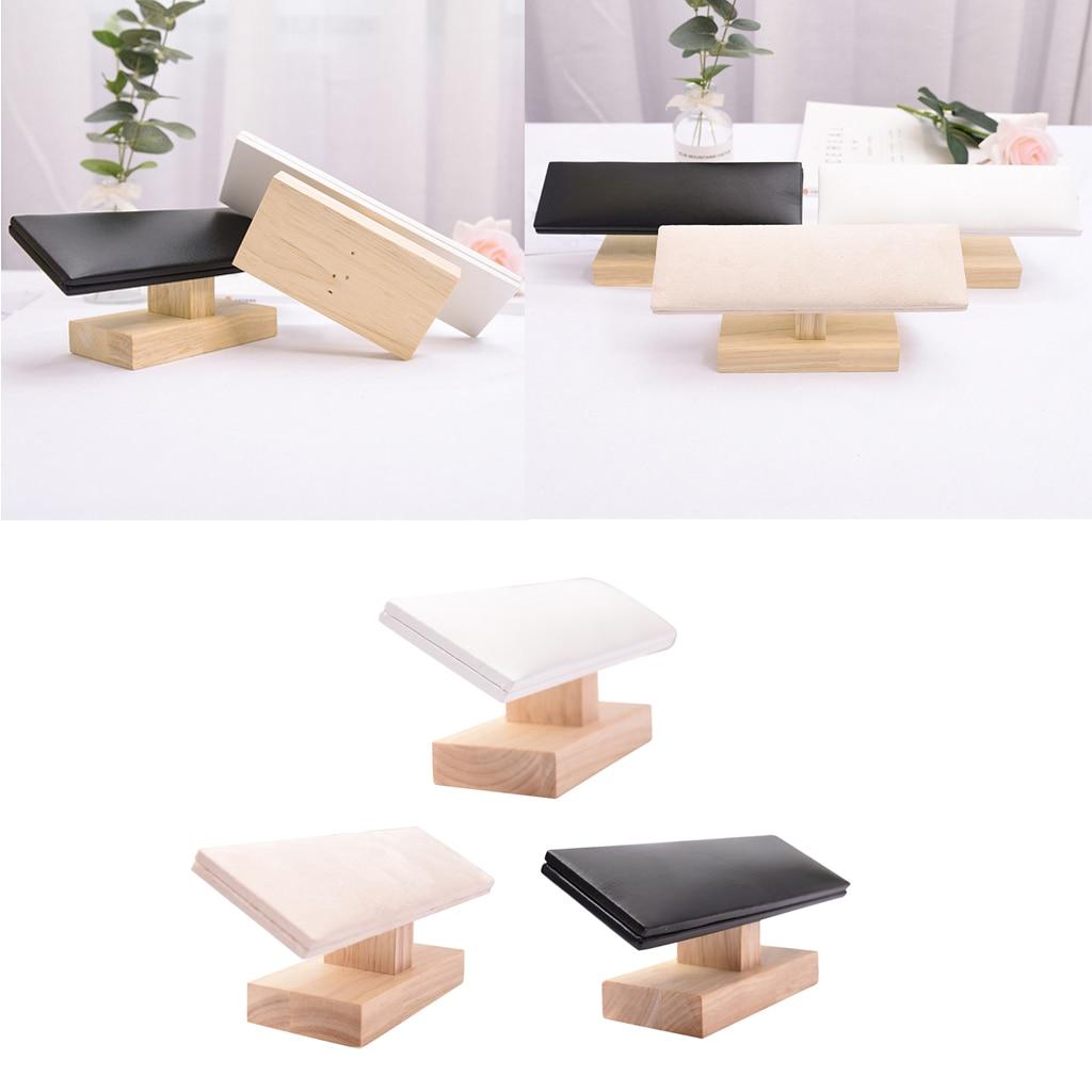T-bar de madeira rack de jóias para