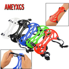 2pcs Archery Arm Protective Gear Adjustable Arm Guard For Compound Bow Recurve Bow Shooting Protector Hunting Accessories mayitr black 4 adjustable straps archery arm guard shooting bow string arm protector gear for hunting training protection