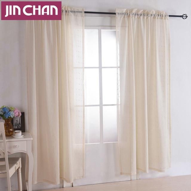 Bordado de Color Beige Moderno cortina de La Ventana Cortinas de