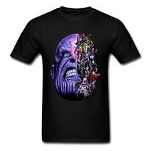 Endgame Thanos Marvel Tshirt Infinite War Justice League Superhero Spider Man Hulk Ironman Deadpool Group T Shirt Great Hero Men