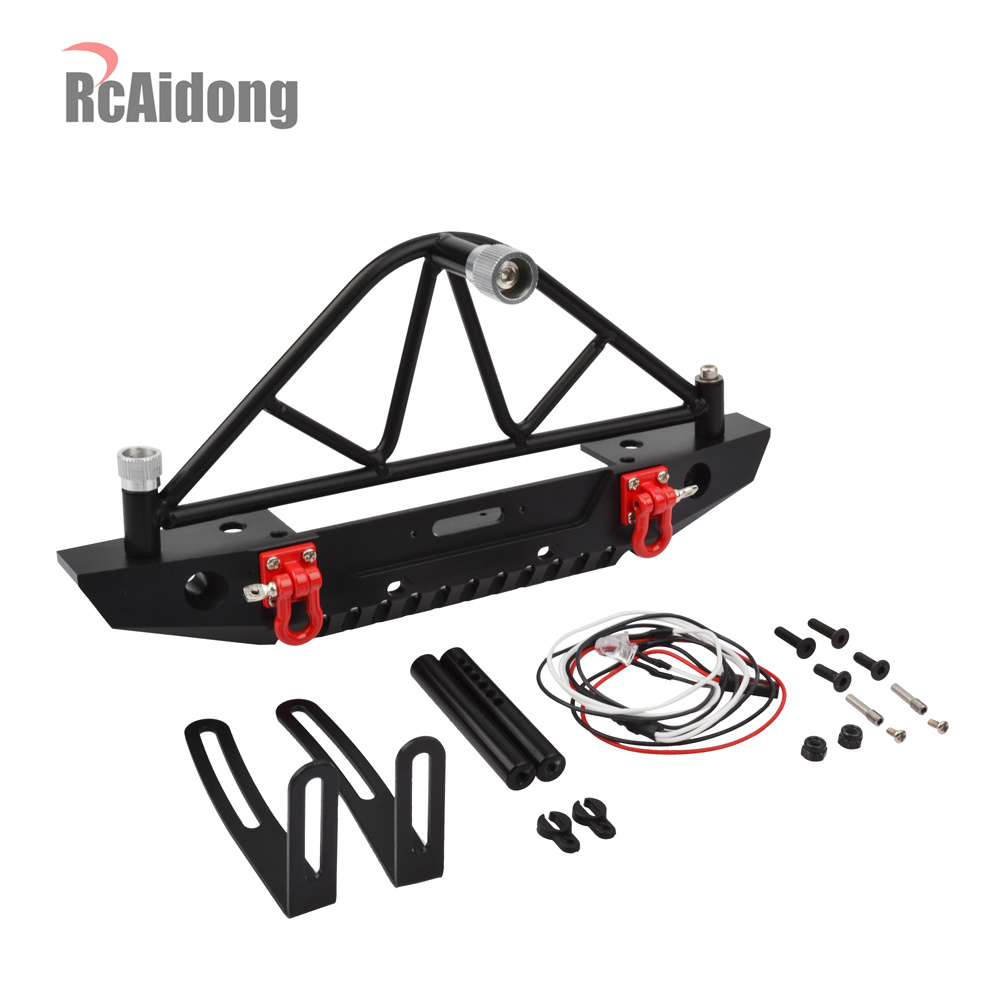 1/10 Rc Car Metal Rear Bumper With Spare Tire Rack Upgrade Parts for 1/10 RC Crawler Car Traxxas TRX4 Axial SCX10 90046 RC Part mxfans 23 pieces alloy upgrade set spare parts for rc 1 10 axial rock crawler