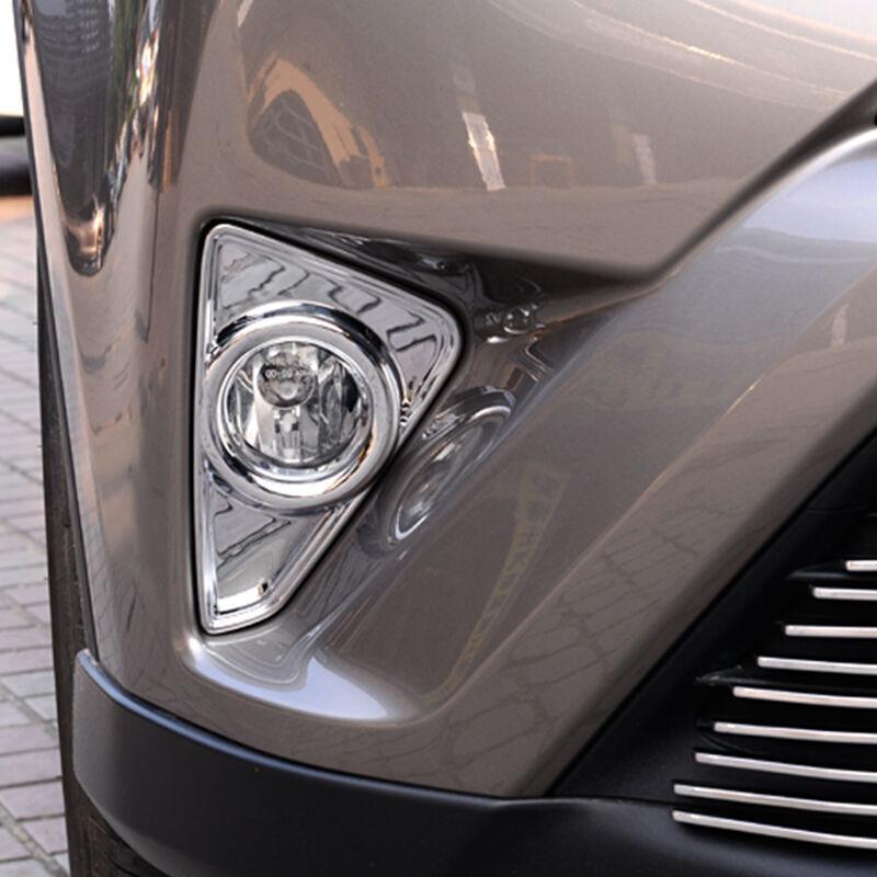 Fit for Toyota RAV4 2016 2017 2018 Chrome Front Fog Light Lamp Cover Bezel Trims