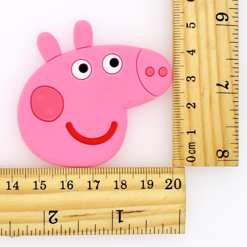 HOT Pink Pigs Flatback Soft PVC Charms Fit Keychain/Fridge Magnet/Clogs/Phone Case/iPad DIY Craft Decoration Handmade Accessory