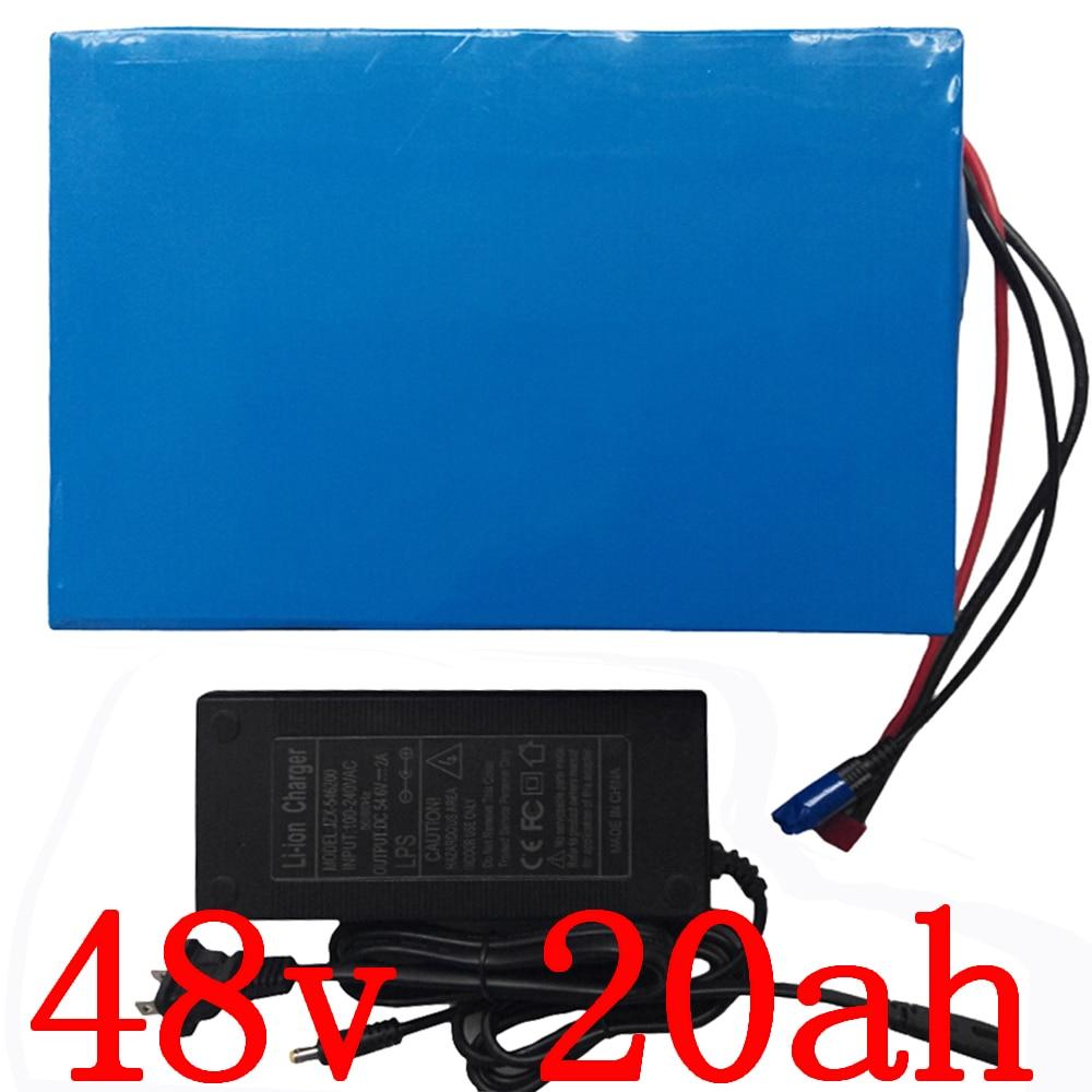 48V 1000 W 2000W baterie 48v 20ah elektrická baterie baterií 48v 20ah lithiová baterie 48v skútrová baterie s 50A BMS + nabíječka 54,6V5A