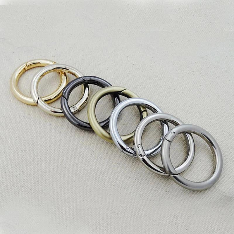 2pcs1/'34inches O Rings Snap Clip Trigger Spring Opening Keyring Buckle Purse Hardware webbing ring DIY O rings 47mmdia qq3