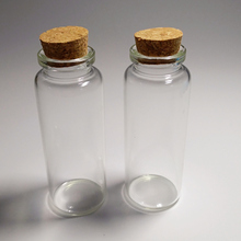 40ml wish glass bottles empty Candy Dry goods bottle with cork diy drifting Home Crafts 30*80mm 24pcs/lot