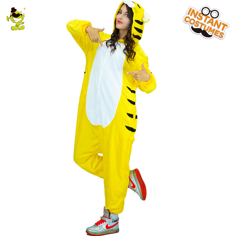 Adult Woman Tiger Pajamas Costumes Women Cosplay Fancy Dress for Carnival Party Role Play Dressup Lady Sleepwear Women Costume