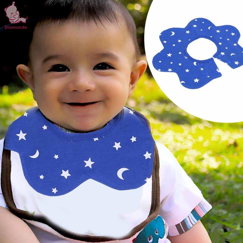 Infant Baby Bibs Round Neck 360 Degree Rotation Multifunctional Saliva Towel Soft Feeding Apron Bandana Newborn Bibs Burp Cloth