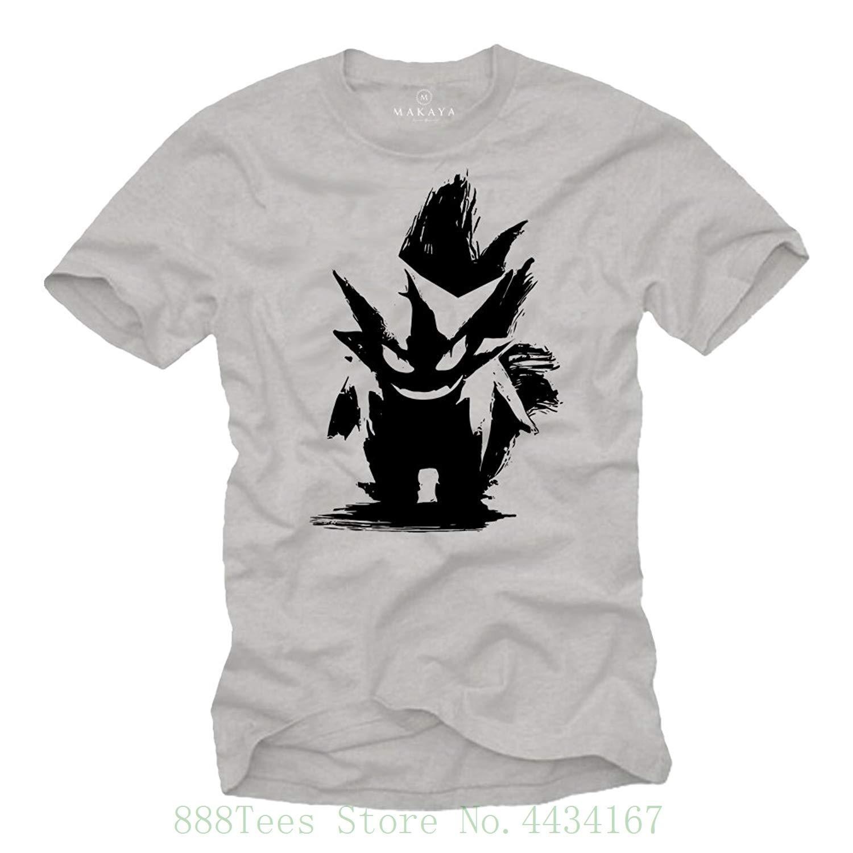 Vintage Gaming T shirt - Gengar T shirt - Gifts For Geeks And Nerds T shirt Summer Novelty Cartoon T Shirt