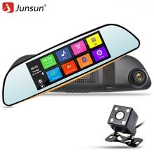 """Junsun 6,86 """"auto GPS-Navigation Bluetooth DVR Kamera Spiegel 16 GB Dual Lens Video Recorder FHD 1080 P Auto dvrs Spiegel Navitel karte"""