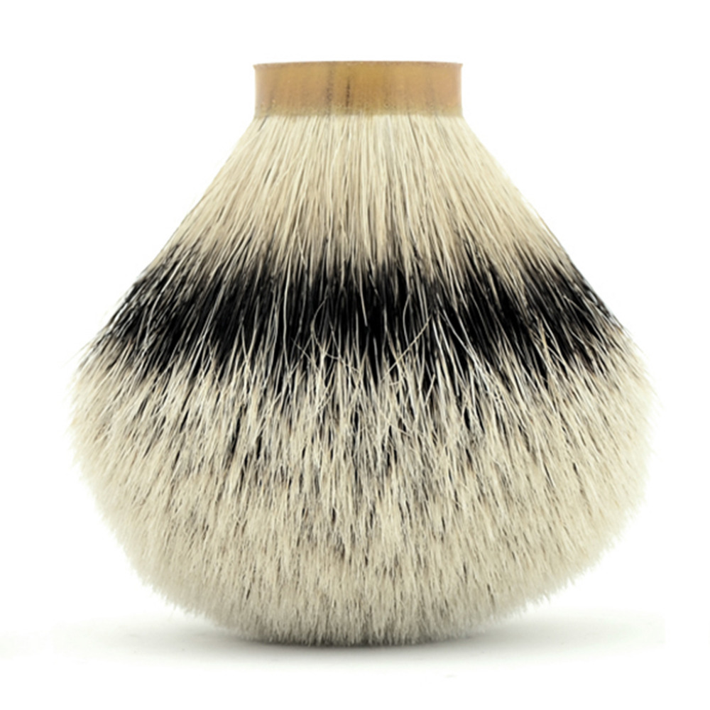 купить Luxury 30*80mm Knot Silvertip Pure Badger Hair Shaving Brush Head Barber DIY Men Shave Beard Tool по цене 3059.89 рублей