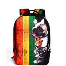 Cute Dachshund Dog Look Out Window Printing Women Backpacks For Teenager Novelty Students School Bags Mochila Feminina