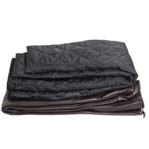 Image 5 - Bruin Heren Luxe Koeienhuid Broek Plus Size Losse Echt Echt Lederen Broek Man Ritsen Motorrijden Broek Winter Warm