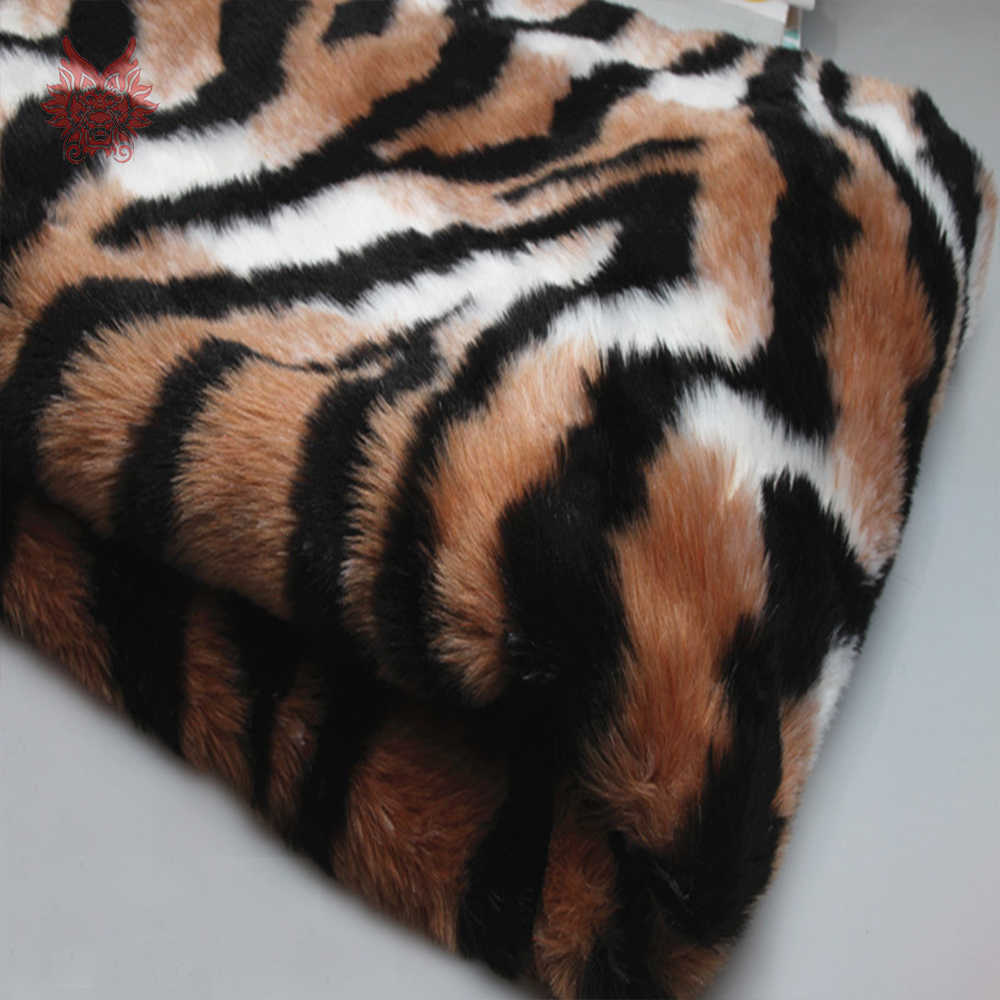 Luxe 1 Cm Lange Bont Leopard Tiger Skin Faux Fur Stof Voor Winterjas Vest Cosplay Stage Pasgeboren Fotografie 150*50 Cm SP5576