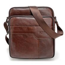 Мужская сумка через плечо из коровьей кожи, мужская сумка-мессенджер из натуральной кожи, мужская повседневная сумка через плечо на молнии, мужская деловая сумка