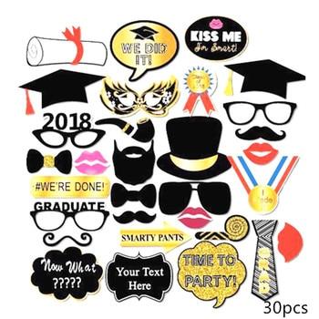 new graduation photobooth props mustache funny glasses graduation