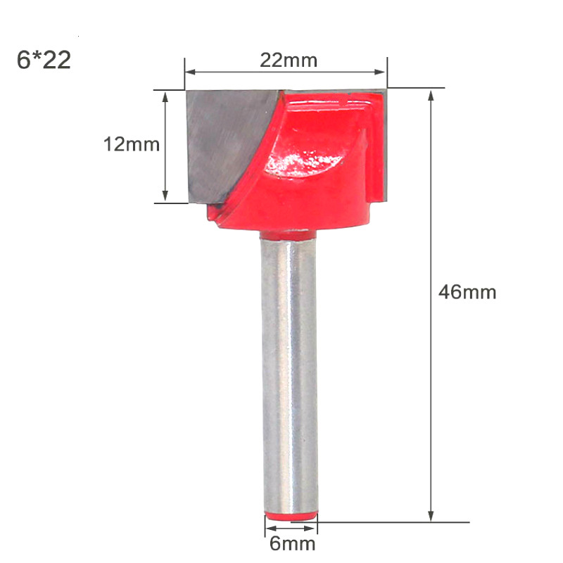 Image 4 - 1Pc 10/13/16/18/20/22/25/30/32mm Surface Planing Wood Milling Router Bits Bottom Cleaning Wood Cutting Router Bit-in Milling Cutter from Tools