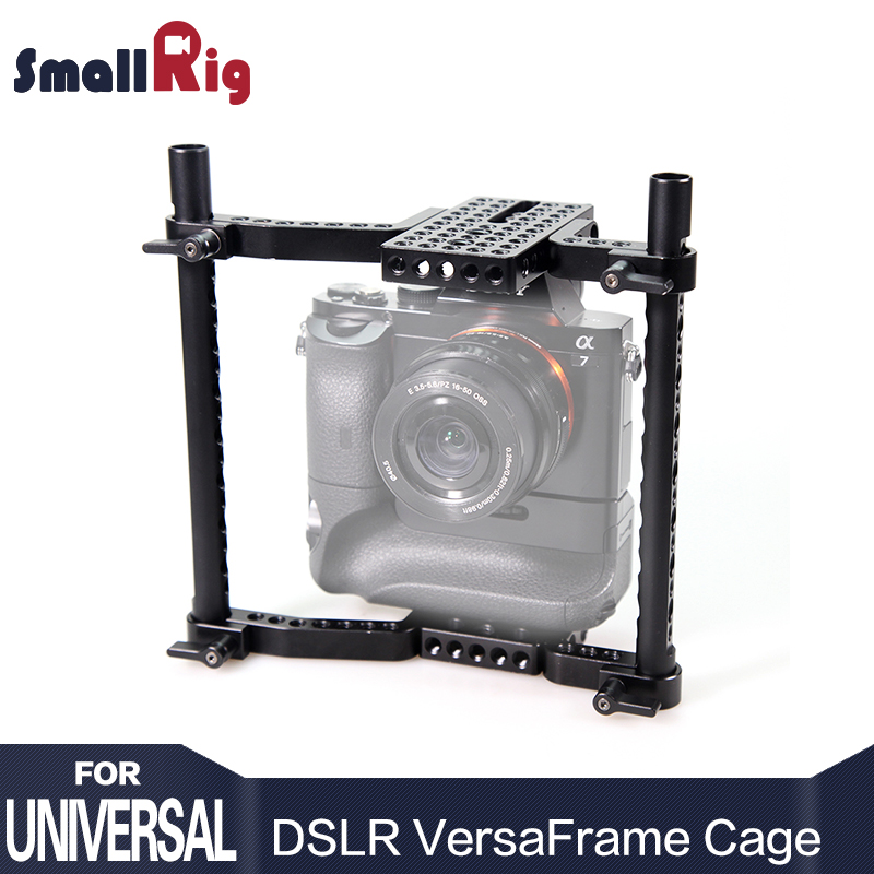 SmallRig Aluminum DSLR Camera Cage for Canon, For Nikon, For Sony, For Panasonic GH3/GH4 with Battery Grip 1750