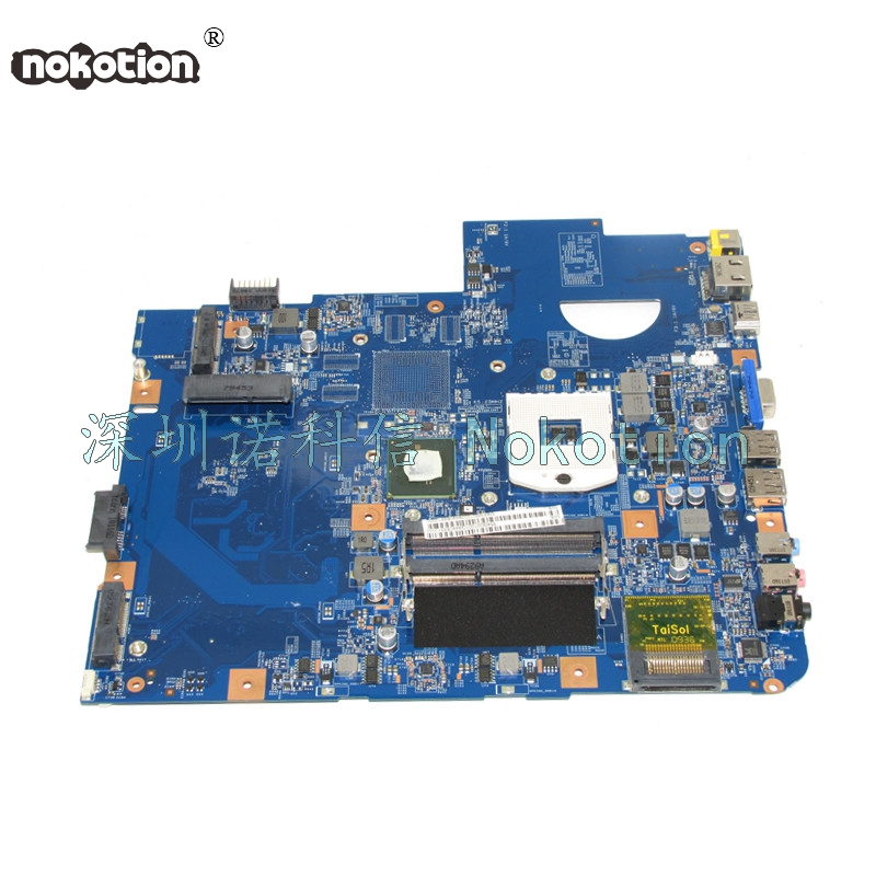 NOKOTION MBPM601002 MB.PM601.002 Laptop Motherboard For Acer aspire 5740 48.4GD01.01M HM55 HD GMA DDR3 Main board works high quality mbpm601002 for acer aspire 5740 5740g laptop motherboard hm55 pga989 ddr3 100