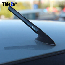 4,7 дюйма черная короткая антенна из углеродного волокна для Renault sceni c1 2 c3 modus Duster Logan Sandero CLIO CAPTUR Megane Koleos