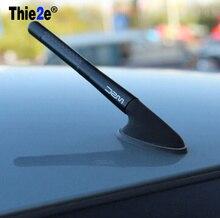 4.7 인치 검은 탄소 섬유 짧은 안테나 Renault sceni c1 2 c3 모드 먼지 떨이 Logan Sandero CLIO CAPTUR Megane Koleos
