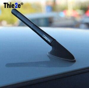 Image 1 - Antenne courte en Fiber de carbone noire, 4.7 pouces, pour Renault sceni c1 2 c3 modus Duster Logan Sandero CLIO CAPTUR, Megane Koleos