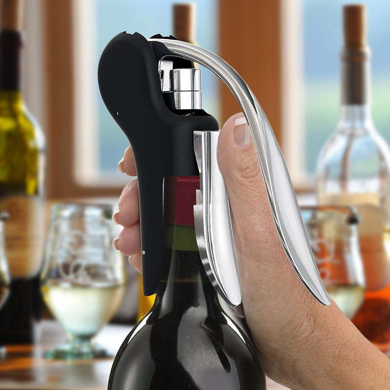 New Wine Tool Set Wine Opener Bar Lever Corkscrew Convenient Bottle Openers Foil Cutter Cork Tire Drill Lifter Kit VHF10