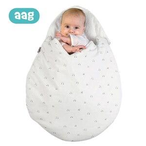 Image 1 - AAG Baby Sleeping Bag Egg Cocoon Newborn Sleepsacks Zipper Sleeping Wrap For Stroller Baby Slumber Bags Bedding Accessories *