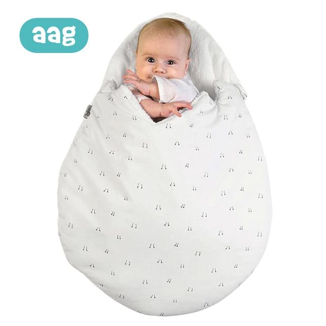 AAG תינוק שק שינה ביצת Cocoon יילוד Sleepsacks רוכסן שינה לעטוף עבור עגלת תרדמת תינוק שקיות מצעים אביזרי *